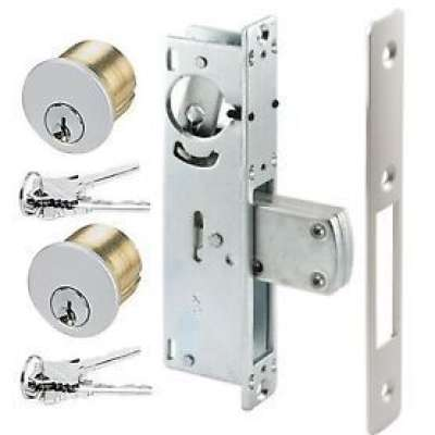 ADAMS-RITE DEADBOLT WITH TWO MORT. CYL